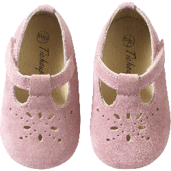 chaussures-bebe-cuir-souple-salome-roses-face