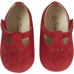 chaussures-bebe-cuir-souple-salome-rouge-face